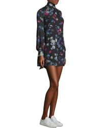 MILLY - Sherie Painted Floral Dress - Lyst