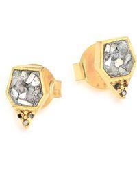 Shana Gulati - Charushila Zivar Black & Sliced Raw Diamond Stud Earrings - Lyst