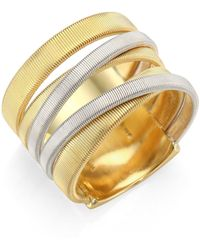 Marco Bicego - Masai 18k Yellow & White Gold Five-strand Ring - Lyst