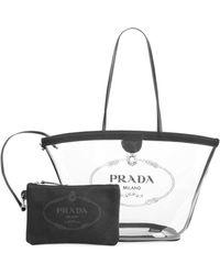 7f7b8f539b82 Lyst - Miu Miu Women s Mini Plex Pvc   Leather Bucket Bag - White in ...