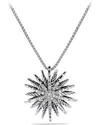 David Yurman - Starburst Medium Pendant With Diamonds On Chain - Lyst