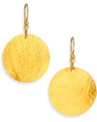 Gurhan - Lush 24k Yellow Gold Dangling Flake Drop Earrings - Lyst
