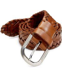Brunello Cucinelli - Leather Braided Belt - Lyst