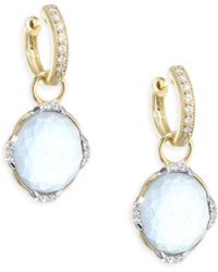 Jude Frances - Lisse Triple Diamond & Labradorite Earring Charms - Lyst