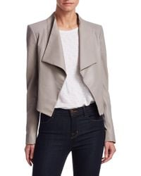 Theory - Paperweight Cowl Leather Jacket - Lyst