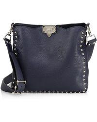 Valentino - Rockstud Utilitarian Hobo Bag - Lyst
