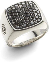 David Yurman - Diamond Signet Ring - Lyst