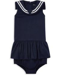Ralph Lauren - Baby Girl's Sailor Two-piece Dress & Bloomers Set - Lyst