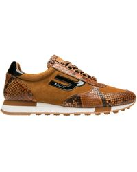 f3425589c Gucci. New Ace Genuine Shearling Trim Sneaker. $1,087. Nordstrom. Bally -  Men's Galaxy Gavino Snakeskin Print Leather Sneakers - Cowboy - Lyst