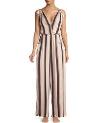 Cool Change - Taryn Tonal Stripe Jumpsuit - Lyst