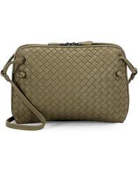 2c0bed88b6 Bottega Veneta - Women s Pillow Intrecciato Leather Crossbody Bag - Glace -  Lyst