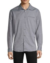 John Varvatos - Marled Button-down Shirt - Lyst
