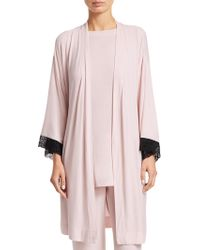Saks Fifth Avenue - Lace-trimmed Robe - Lyst