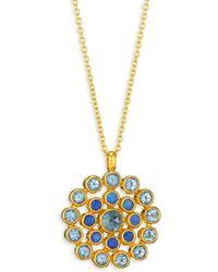 Gurhan - Juju Opal, Blue Topaz, 22k Yellow Gold, 24k Yellow Gold & 18k Yellow Gold Evil Eye Pendant Neckl - Lyst