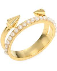 Vita Fede - Ultra Mini Titan Pearl Ring - Lyst