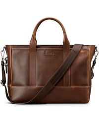 Shinola - Medium Leather Briefcase - Lyst
