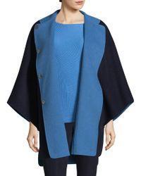 St. John - Doubleface Angora Cashmere Reversible Jacket - Lyst