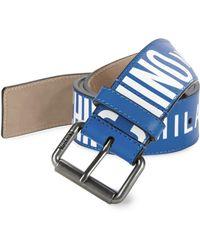 3122375485 Moschino Logo Belt in Blue for Men - Lyst