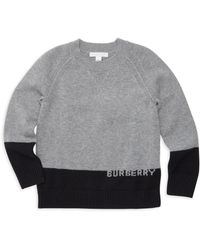 410656c3499 Burberry - Little Boy s   Boy s Alister Logo Intarsia Cashmere Sweater -  Grey - Size 4
