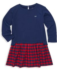 Vineyard Vines - Little Girl's & Girl's Mixed Media Sweatshirt Dress - Lyst
