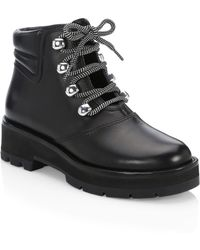 3.1 Phillip Lim - Dylan Leather Lace-up Hiking Boots - Lyst