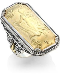 Konstantino - Gaia 18k Yellow Gold Rectangular Ring - Lyst
