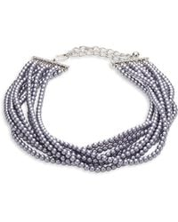 Kenneth Jay Lane - Eight Strand Faux-pearl Necklace - Lyst