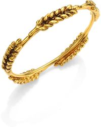 Aurelie Bidermann - Five Cobs Wheat Bangle Bracelet - Lyst