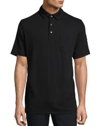 Saks Fifth Avenue - Solid Slub Polo - Lyst