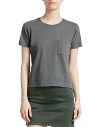 Theory - Petya Cotton Tee - Lyst