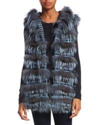 Saks Fifth Avenue - Fox Hoodie Vest - Lyst