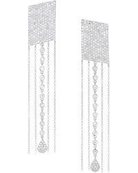 Meira T - 14k White Gold & Diamond Fringe Drop Earrings - Lyst
