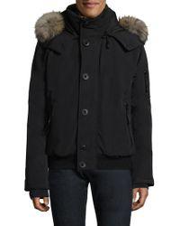Sam. - Icon Fur-trim Hooded Bomber Jacket - Lyst