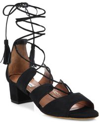 Tabitha Simmons | Isadora Suede Lace-up Sandals | Lyst