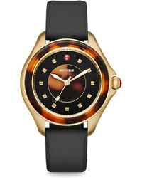 Michele Watches - Cape Topaz, Stainless Steel & Silicone Strap Watch - Lyst