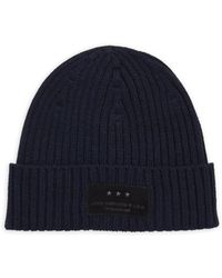 John Varvatos | Ribbed Knit Wool Hat | Lyst