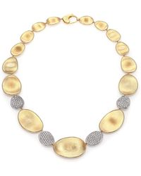 Marco Bicego - Lunaria Diamond & 18k Yellow Gold Four-station Collar Necklace - Lyst