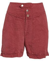 9d6ca0d3a5 Étoile Isabel Marant Celsa Perforated Denim Shorts in Blue - Lyst