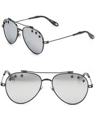 f9d7e98a7c333 Lyst - Givenchy 56mm Metal Aviator Sunglasses in Purple for Men