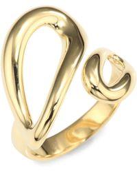 Ippolita - Cherish 18k Yellow Gold Small Bypass Ring - Lyst