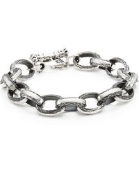 King Baby Studio - Armor Sterling Silver Chain Link & Toggle Bracelet - Lyst