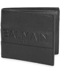 Balmain - Leather Billfold Wallet - Lyst