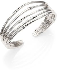 John Hardy - Bamboo Sterling Silver Four-band Cuff Bracelet - Lyst