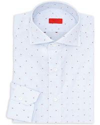 Isaia - Checkered Cotton Dress Shirt - Lyst