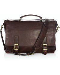 Frye - Logan Leather Flap Briefcase - Lyst