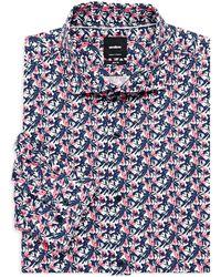 Strellson - Sereno Printed Slim-fit Dress Shirt - Lyst