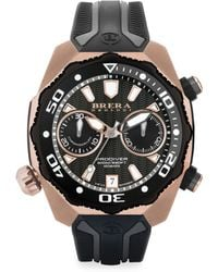 Brera Orologi - Pro Diver Rose Goldtone Stainless Steel & Rubber Strap Watch - Lyst