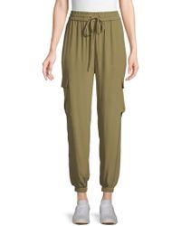 Eileen Fisher - Silk Georgette Ankle Cargo Pants - Lyst