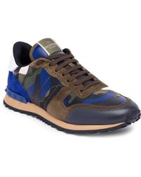 Valentino - Camouflage Rock Running Sneakers - Lyst