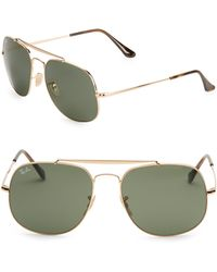 Ray-Ban - 57mm Aviator Sunglasses - Lyst
